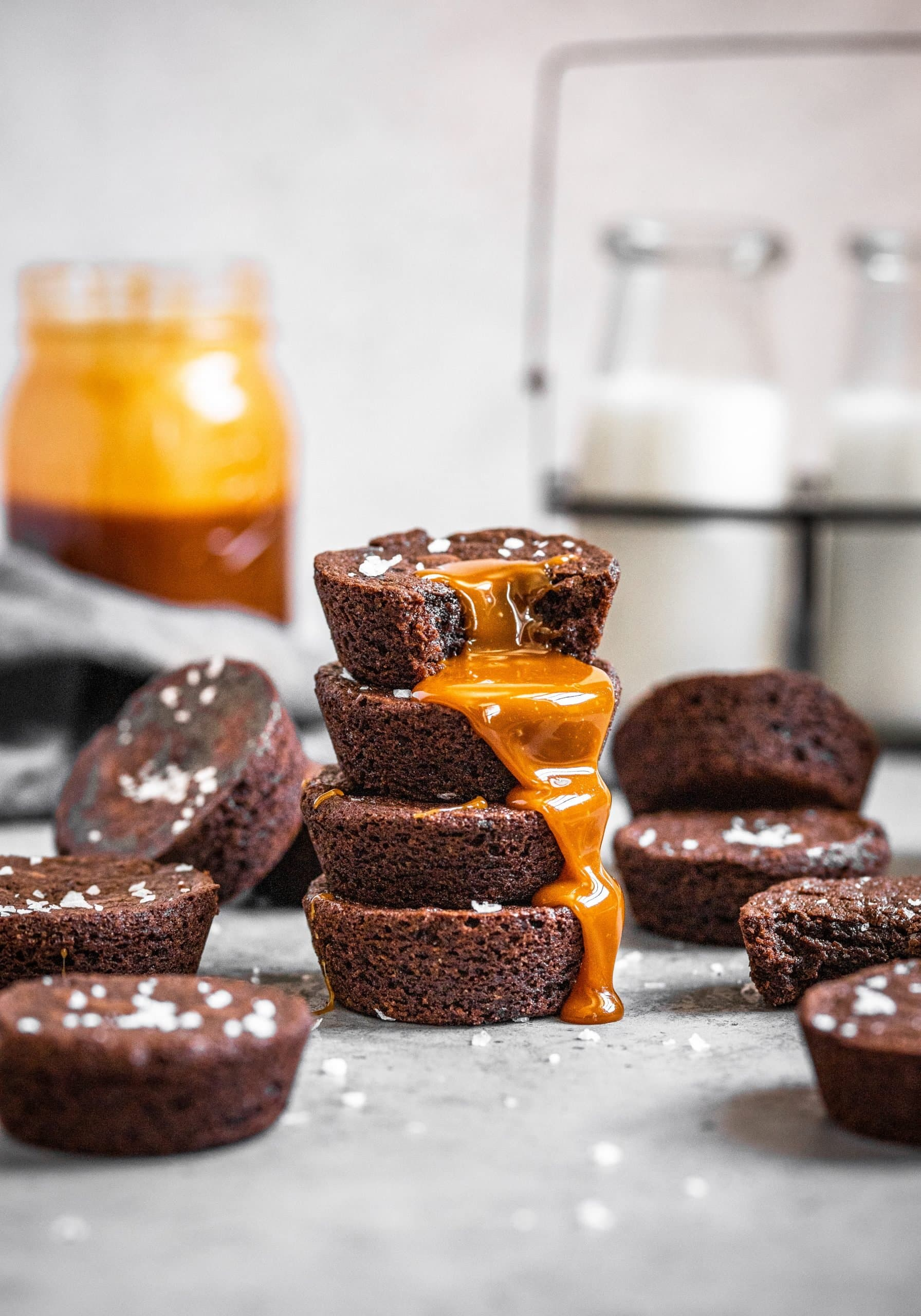 Salted Caramel Brownie Cups
