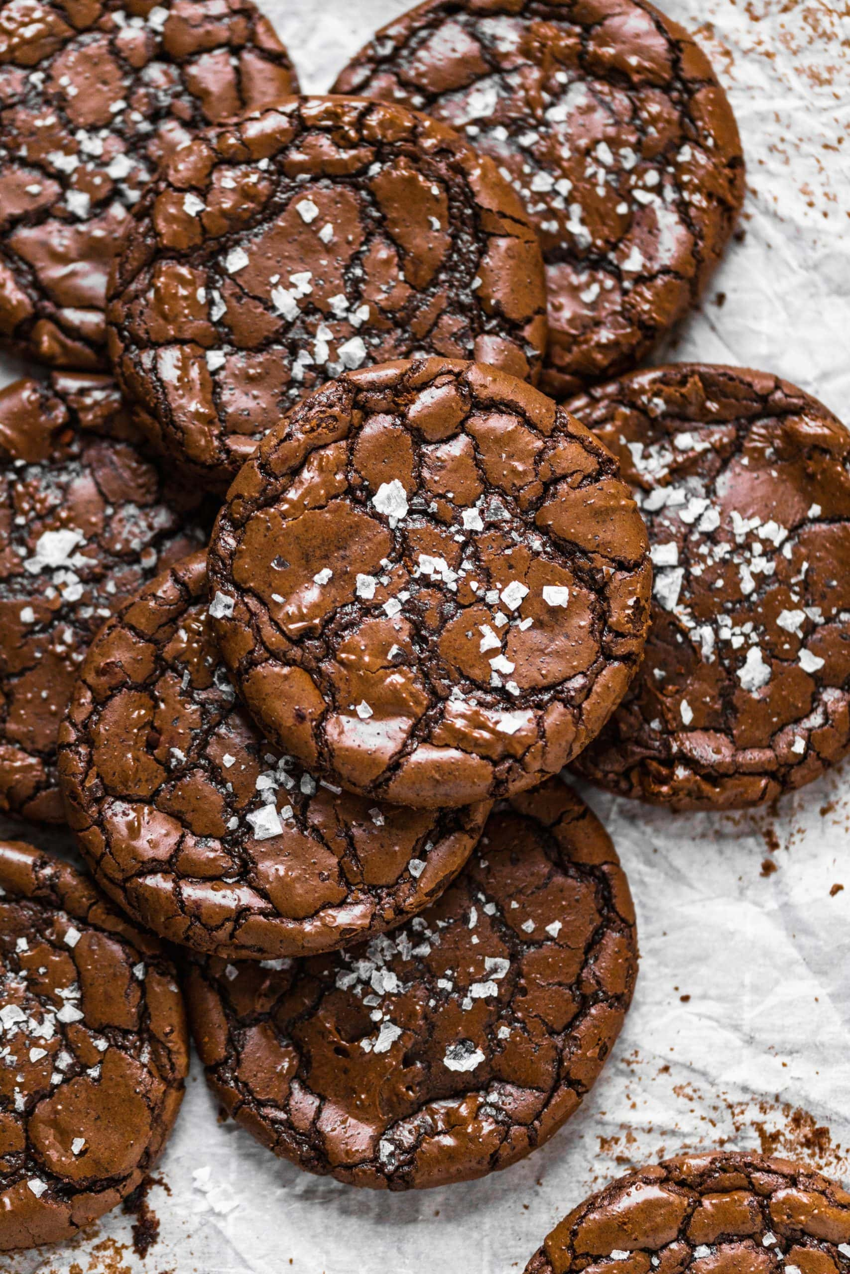 Fudgy Brownie Crinkle Cookies
