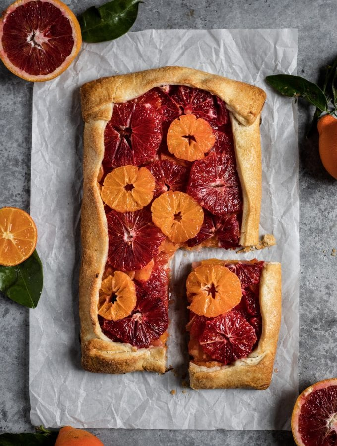 blood orange & mandarin galette