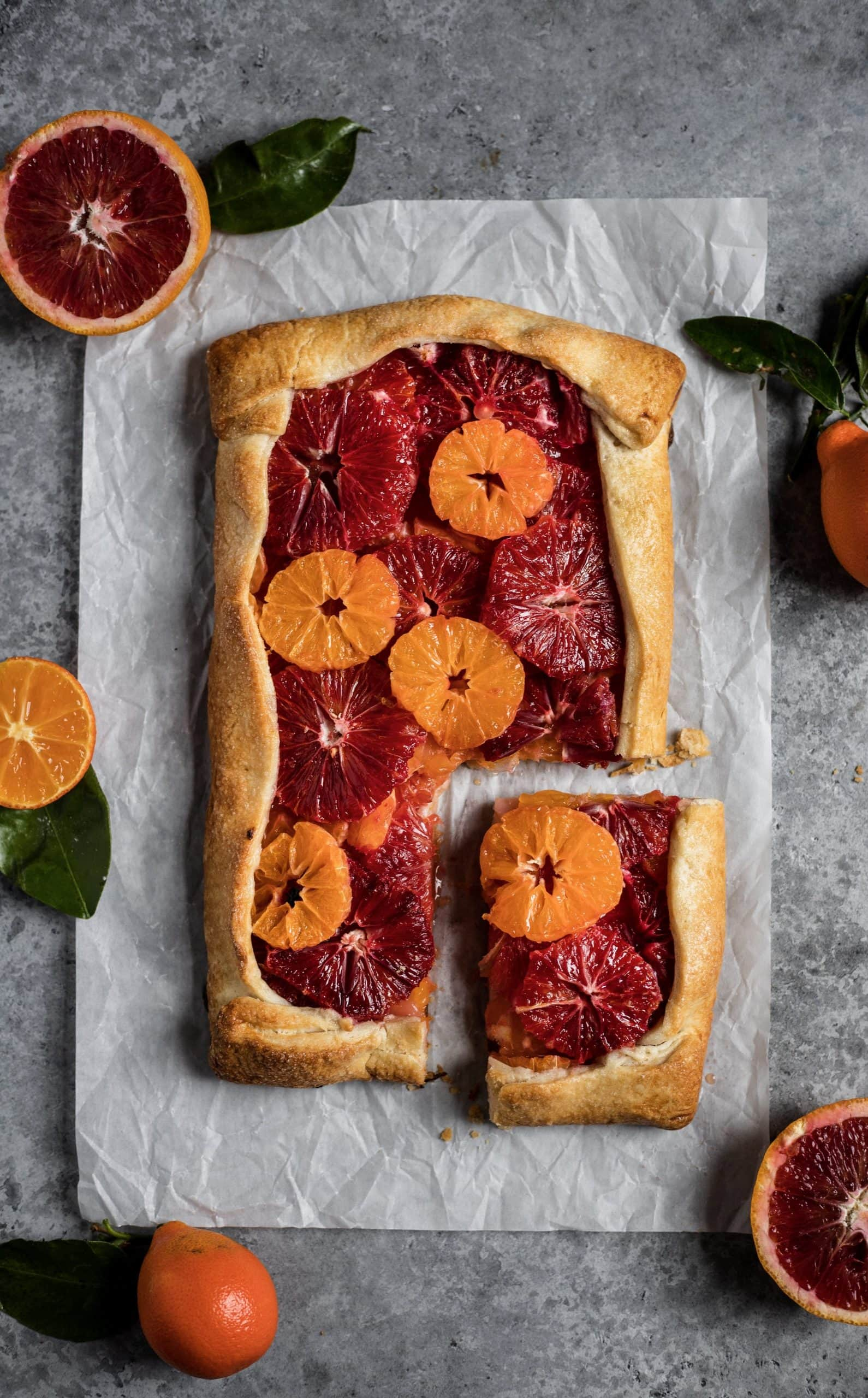 blood orange & mandarin galette