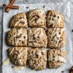 spiced maple pecan scones