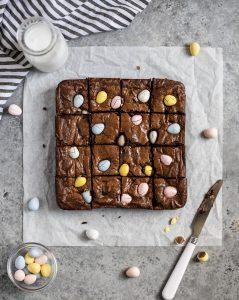 mini egg brownies