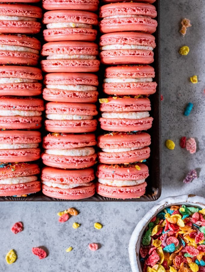 Fruity Pebbles Macarons