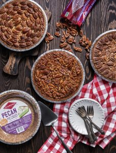 Pecan pie three ways featuring diamond nuts pecan pie crust
