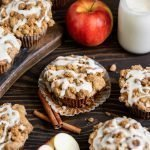 apple cinnamon muffins with vanilla bean glaze
