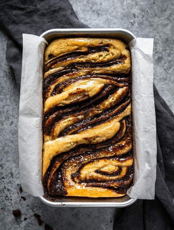 Dark Chocolate Tahini Babka