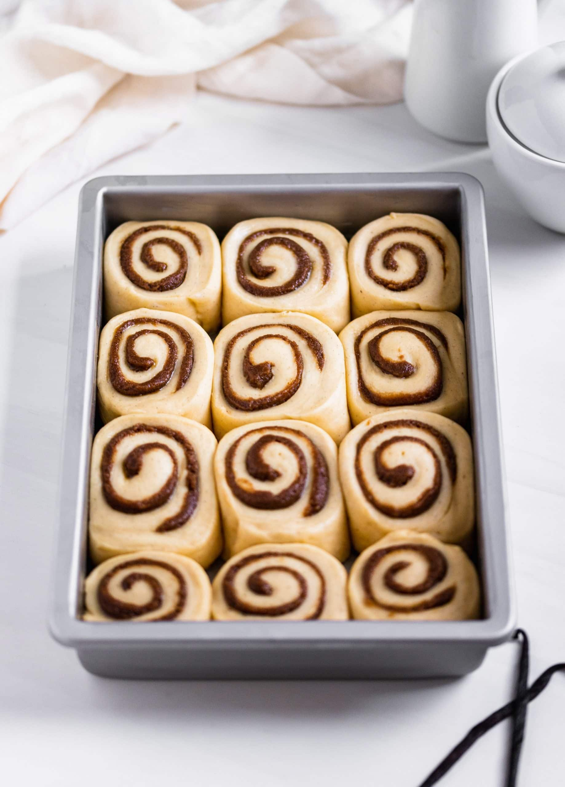 Cardamom Cinnamon Rolls with Brown Butter Vanilla Bean Cream Cheese Icing