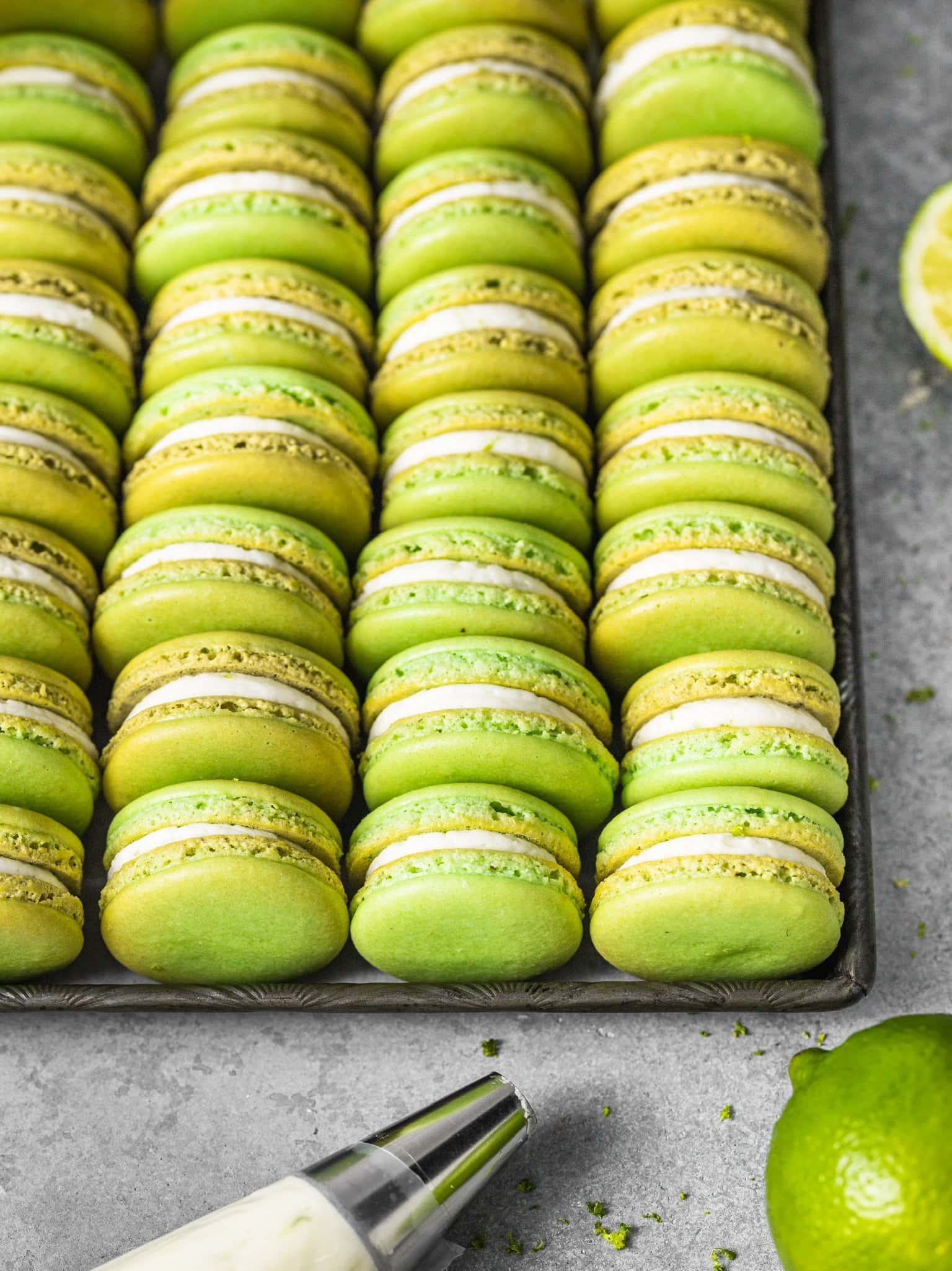 Margarita Macarons with Tequila Lime Buttercream