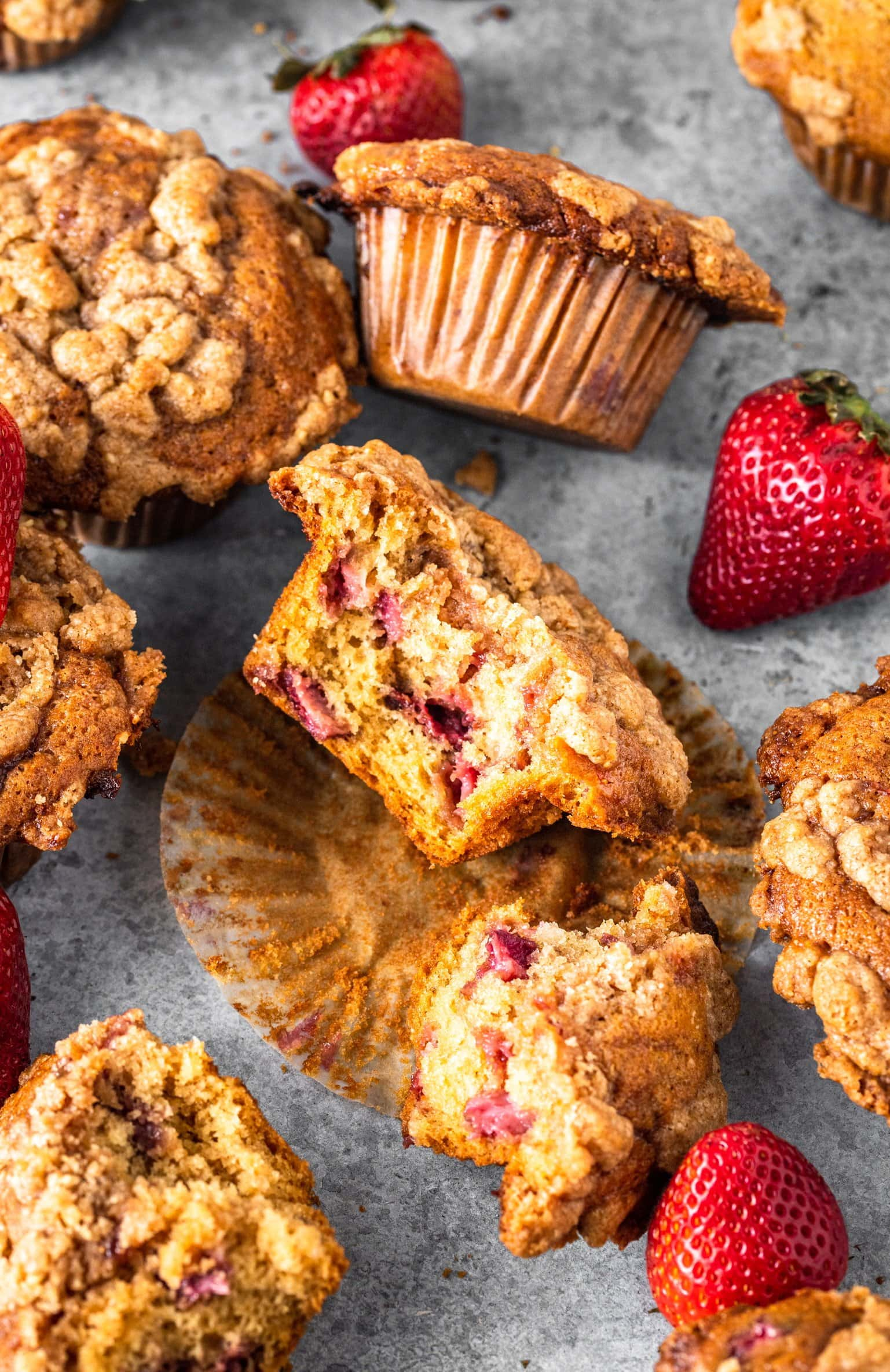 Strawberry Swirl Coffee Cake Muffins