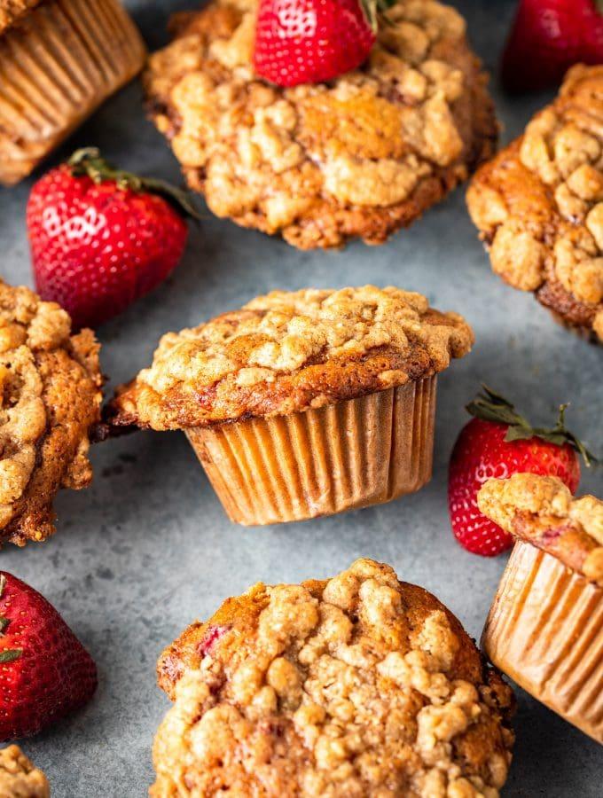 Strawberry Swirl Coffee Cake Muffins