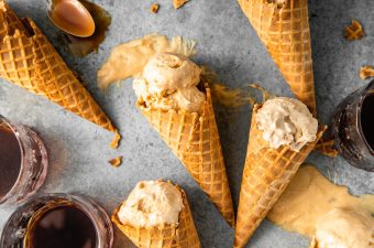 No Churn Bourbon Salted Caramel Ice Cream
