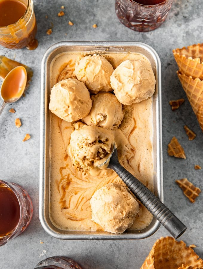 No Churn Bourbon Salted Caramel Ice Cream