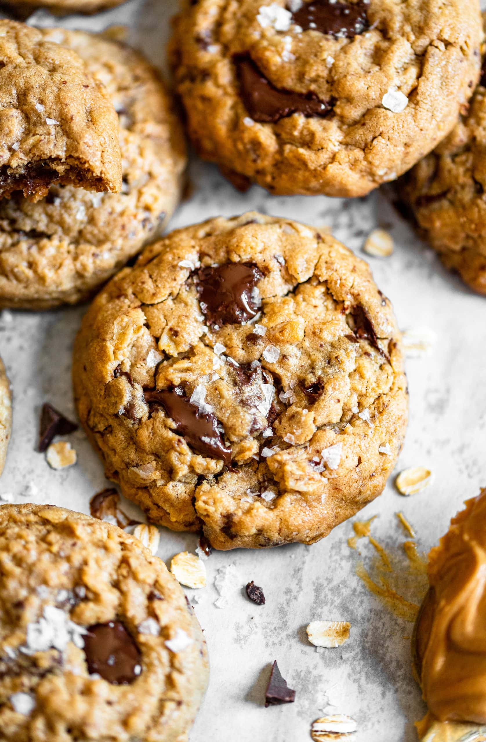 Peanut Butter Chocolate Chunk Oatmeal Cookies