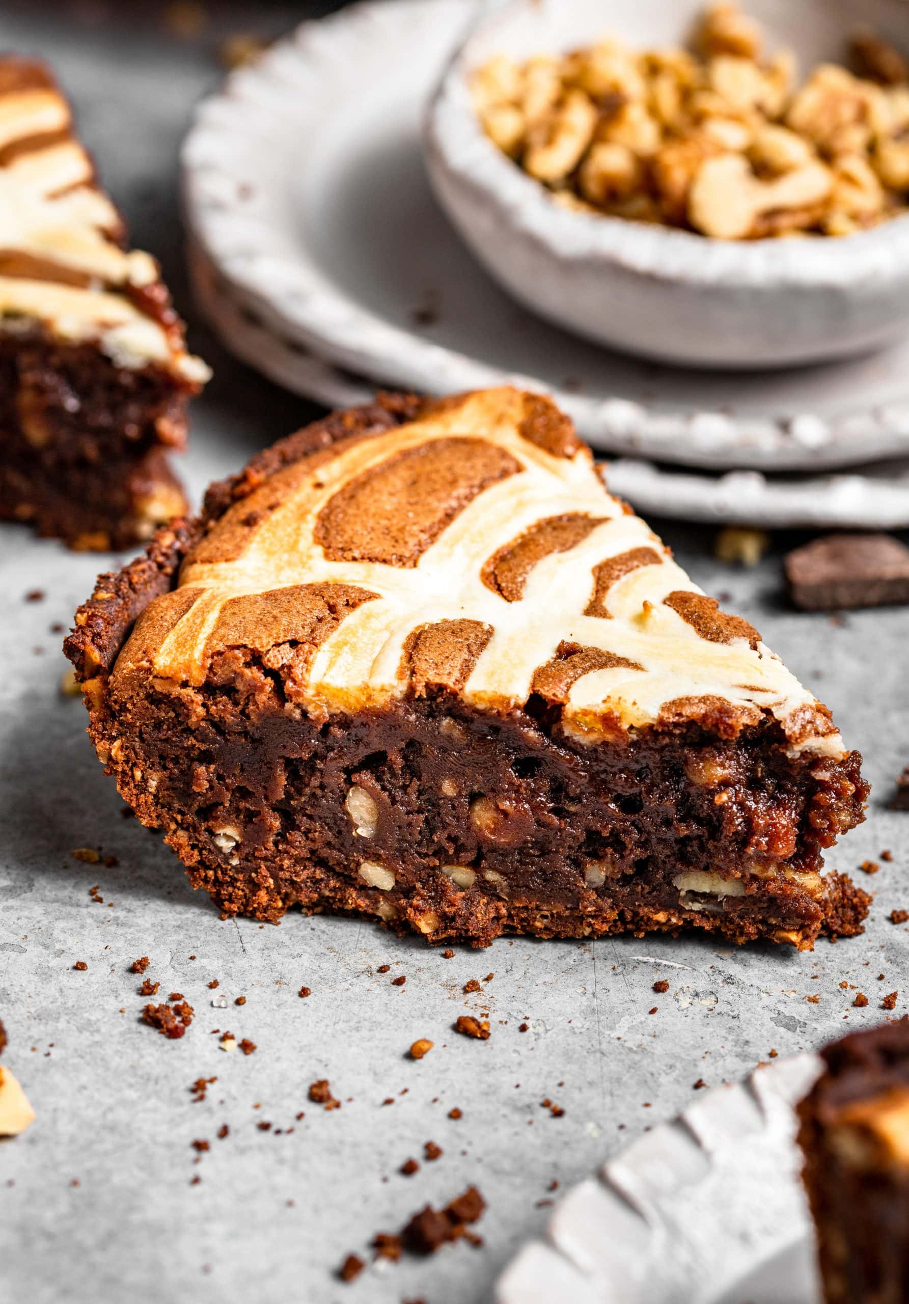 Halloween Brownie Pie