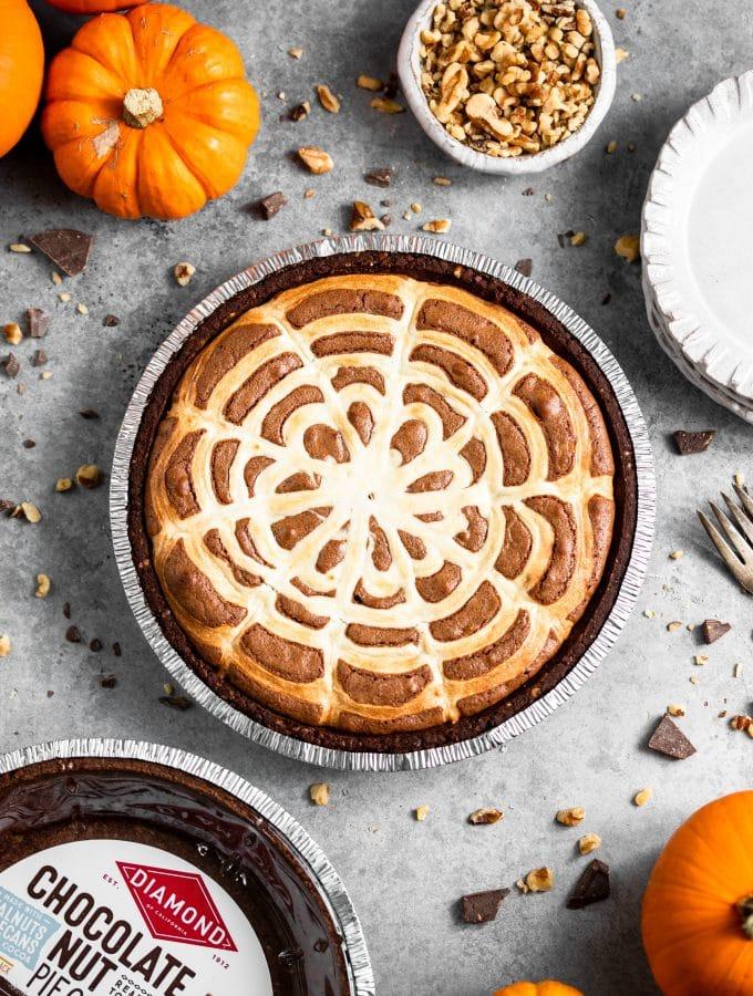 Halloween Brownie Pie