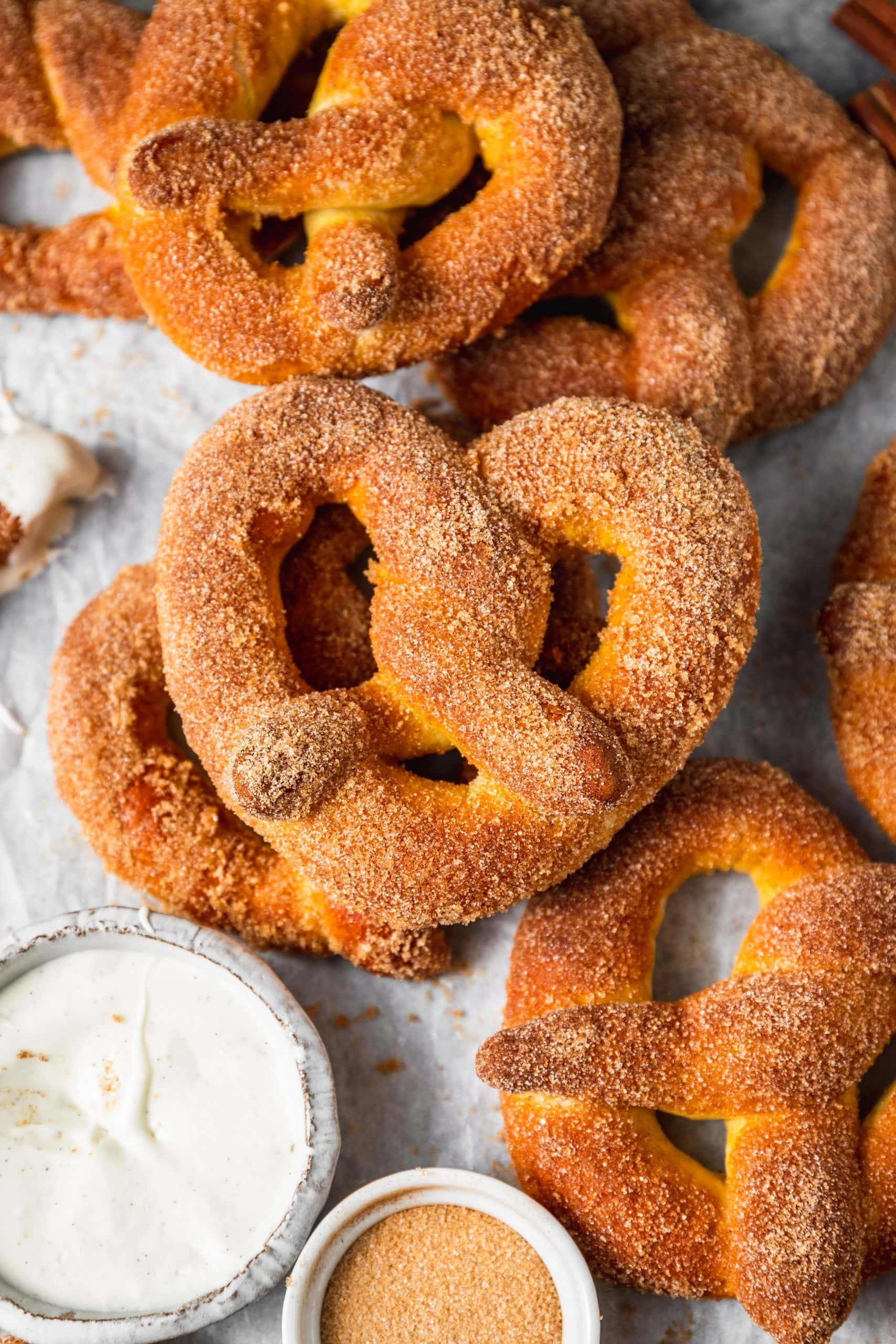 Mini Cinnamon Sugar Pretzels