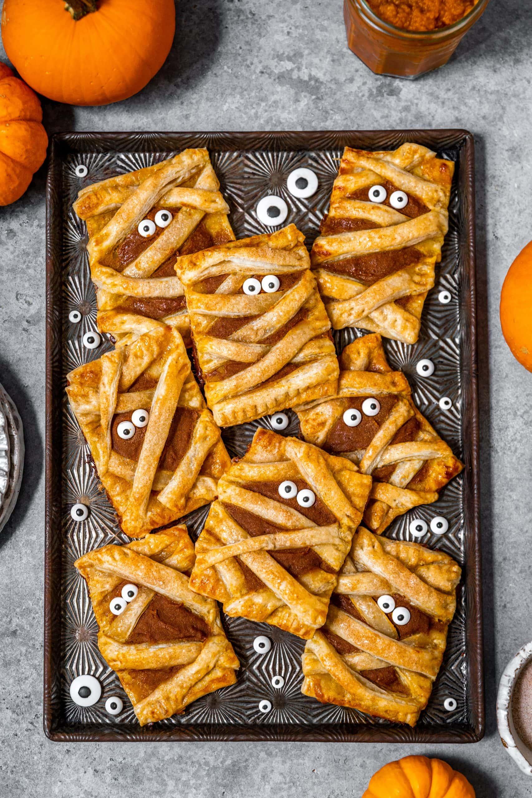 Mummy Pumpkin Pie Pop Tarts