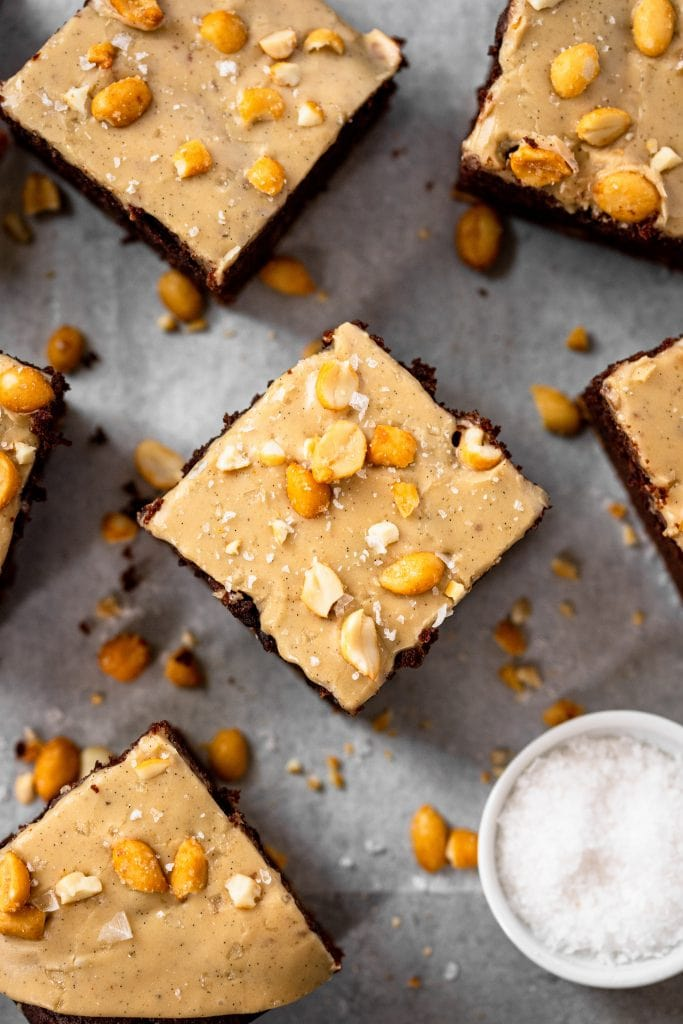 Chocolate Peanut Butter Snack Cake