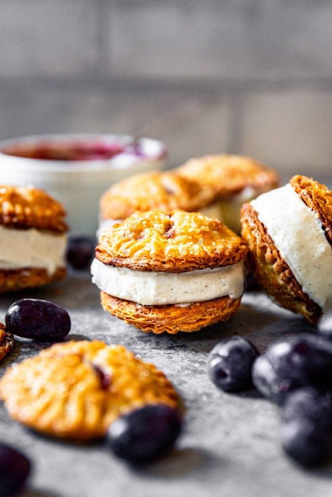 Concord Grape Hand Pie Ice Cream Sandwiches