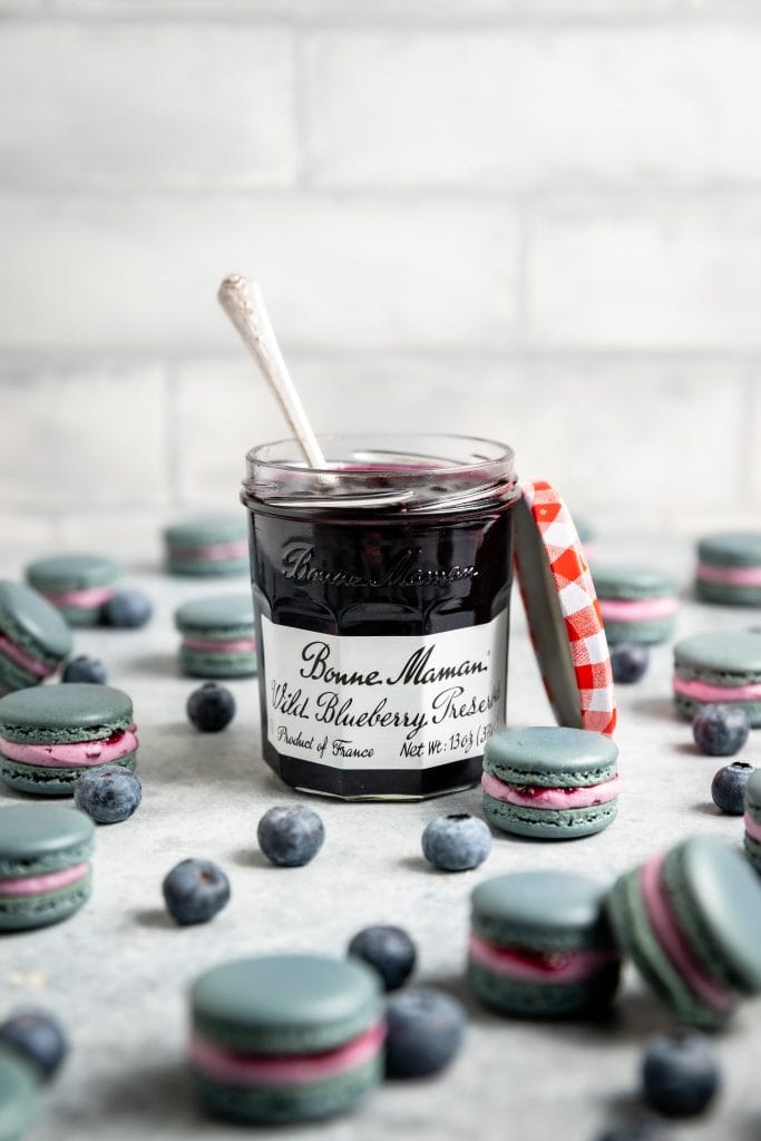 Wild Blueberry Macarons