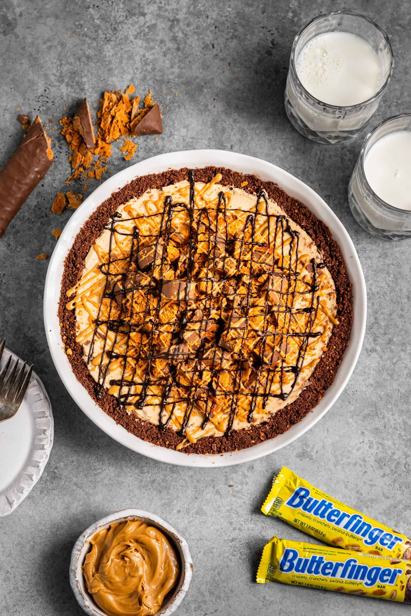 No-Bake Butterfinger® Pie