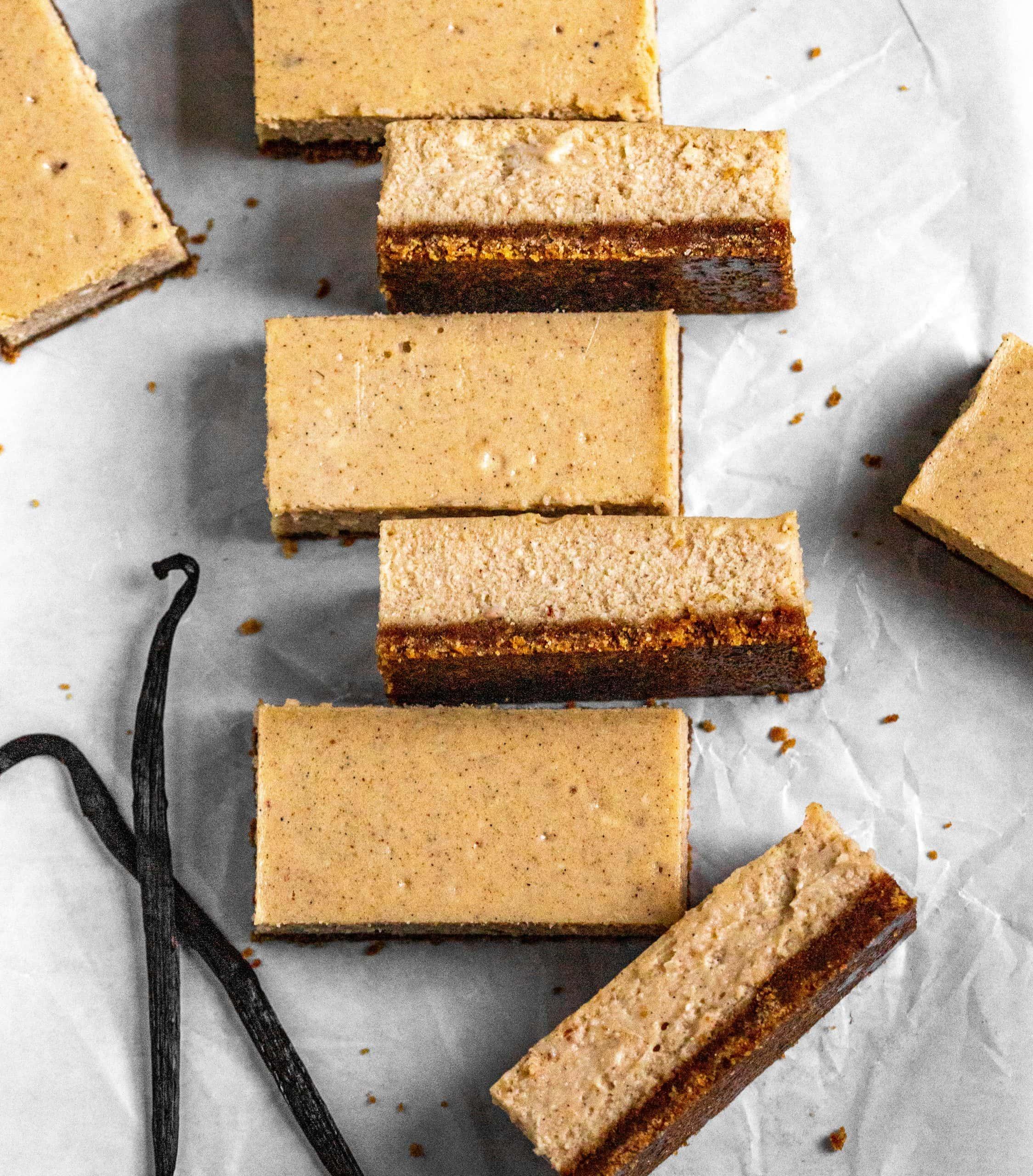 vanilla chai cheesecake bars