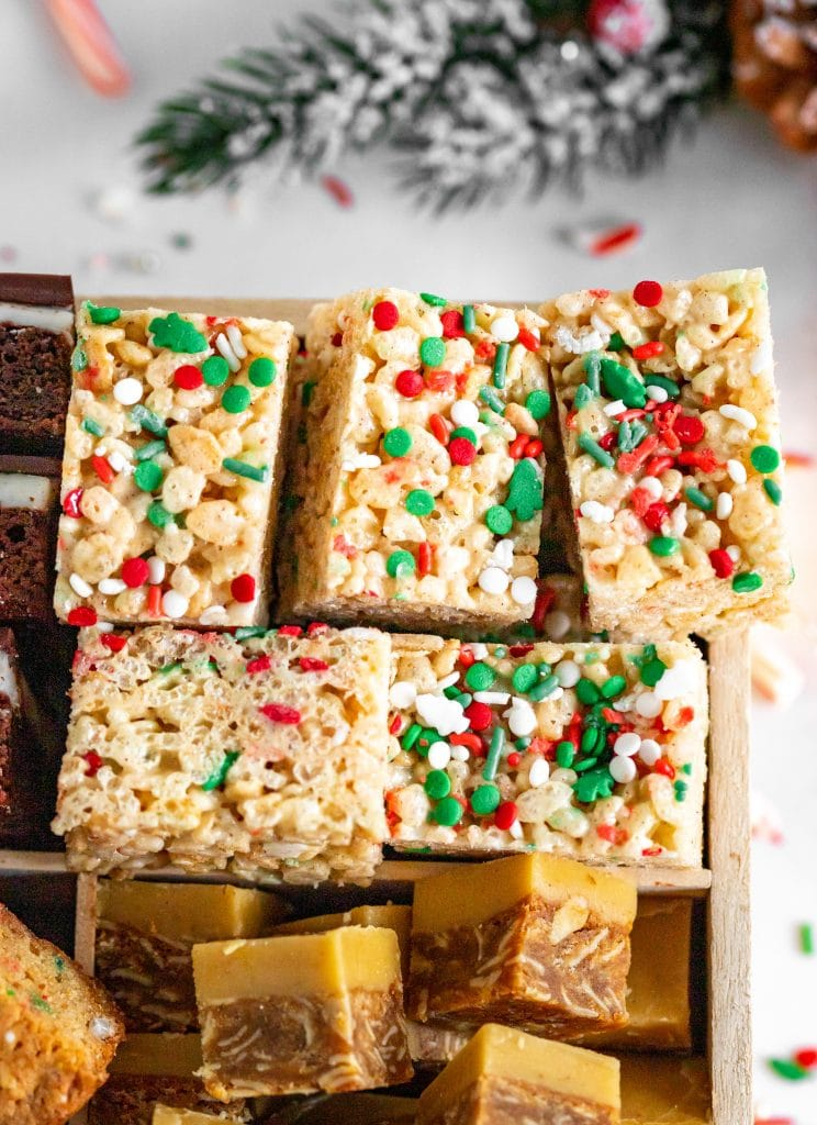 Brown Butter Holiday Rice Krispie Treats