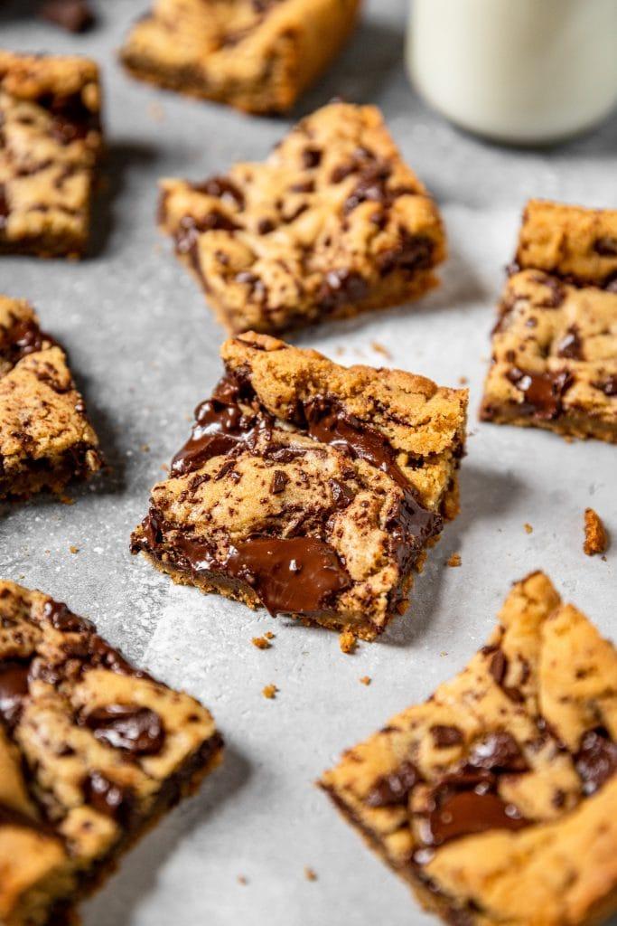 Small Batch Chocolate Chunk Cookie Bars