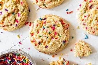 Small Batch Funfetti Sugar Cookies